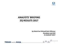 2Q17 Analysts Briefing