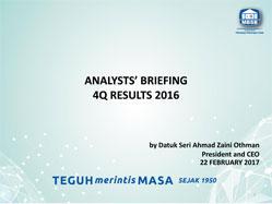 4Q16 Analysts Briefing